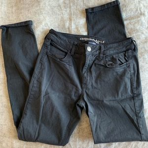 America Eagle Black Tomgirl Pants